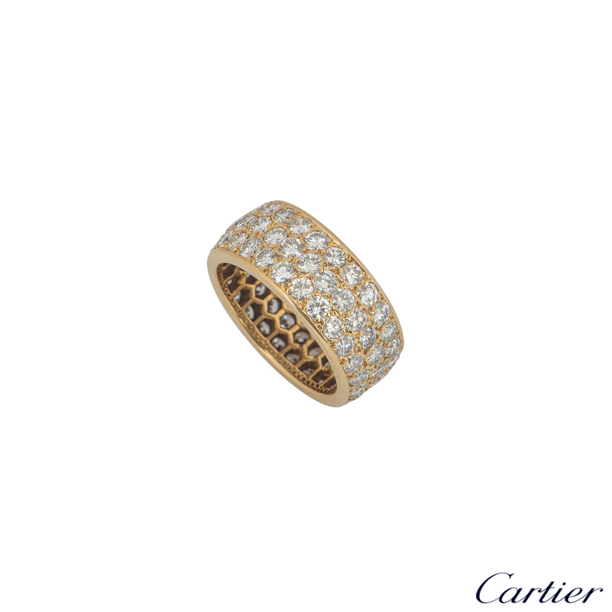 Cartier Yellow Gold Diamond Full Eternity Ring 3.60ct G/VS